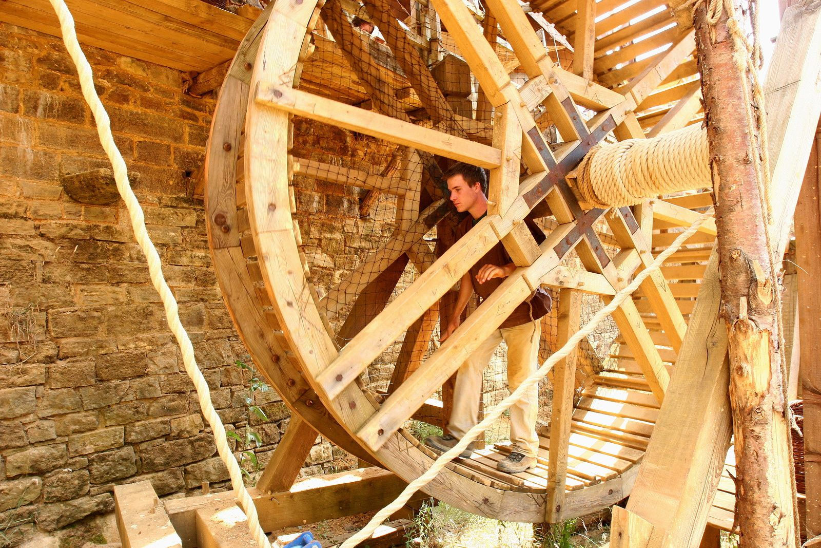 Roue de carrier en direct du Moyen-Age