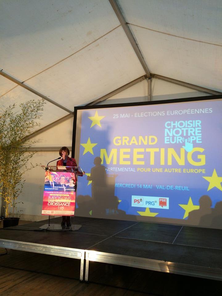 Mme Claude ROIRON, candidate socialiste aux européennes de 2014.