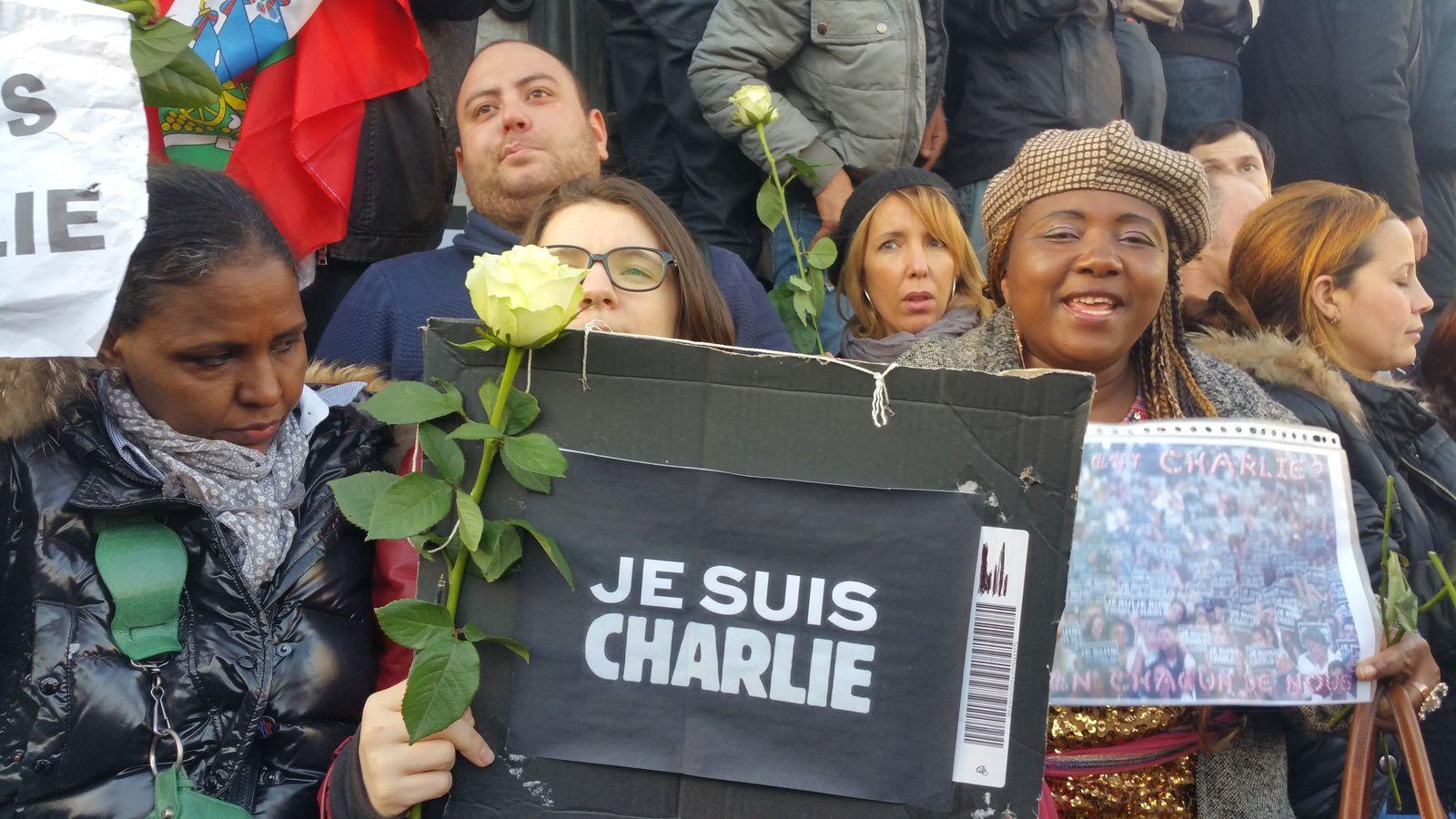 Marche républicaine, Paris, Place de la République, 11 janvier 2015.
