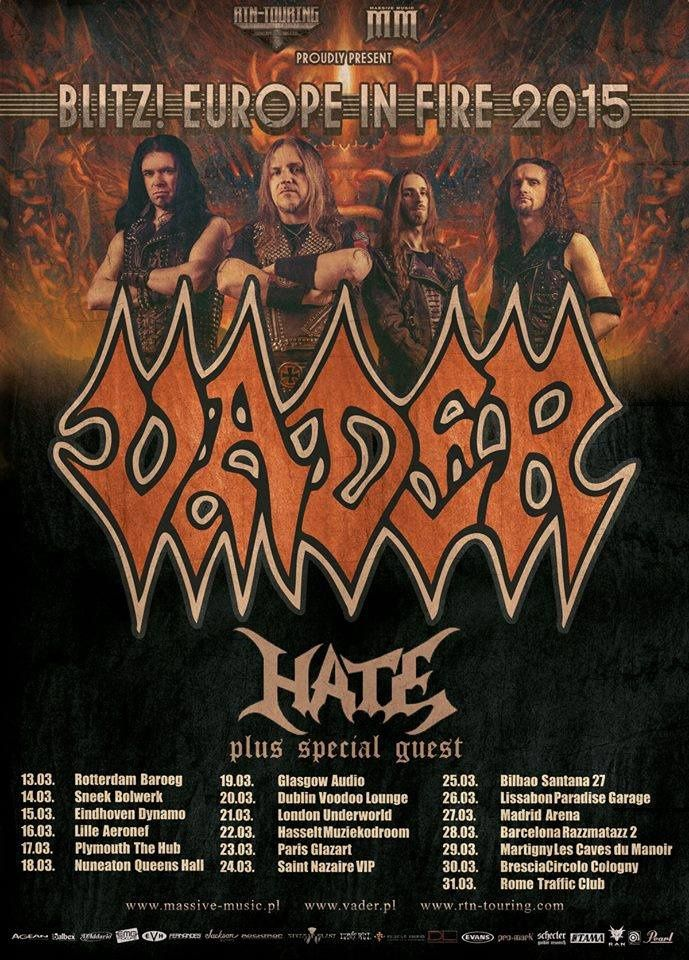 VADER on European tour next March