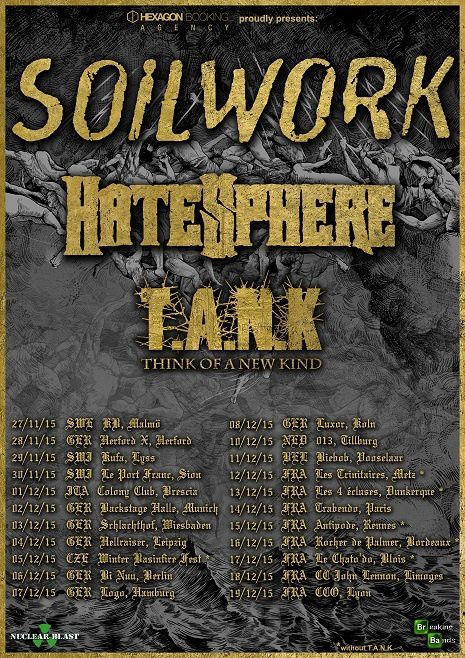 Help T.A.N.K to go on tour with Soilwork