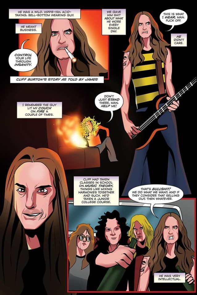 METALLICA Immortalized In New Comic Book