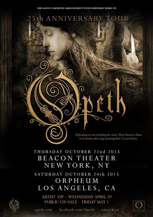 Video OPETH '25th Anniversary Tour' à Los Angeles