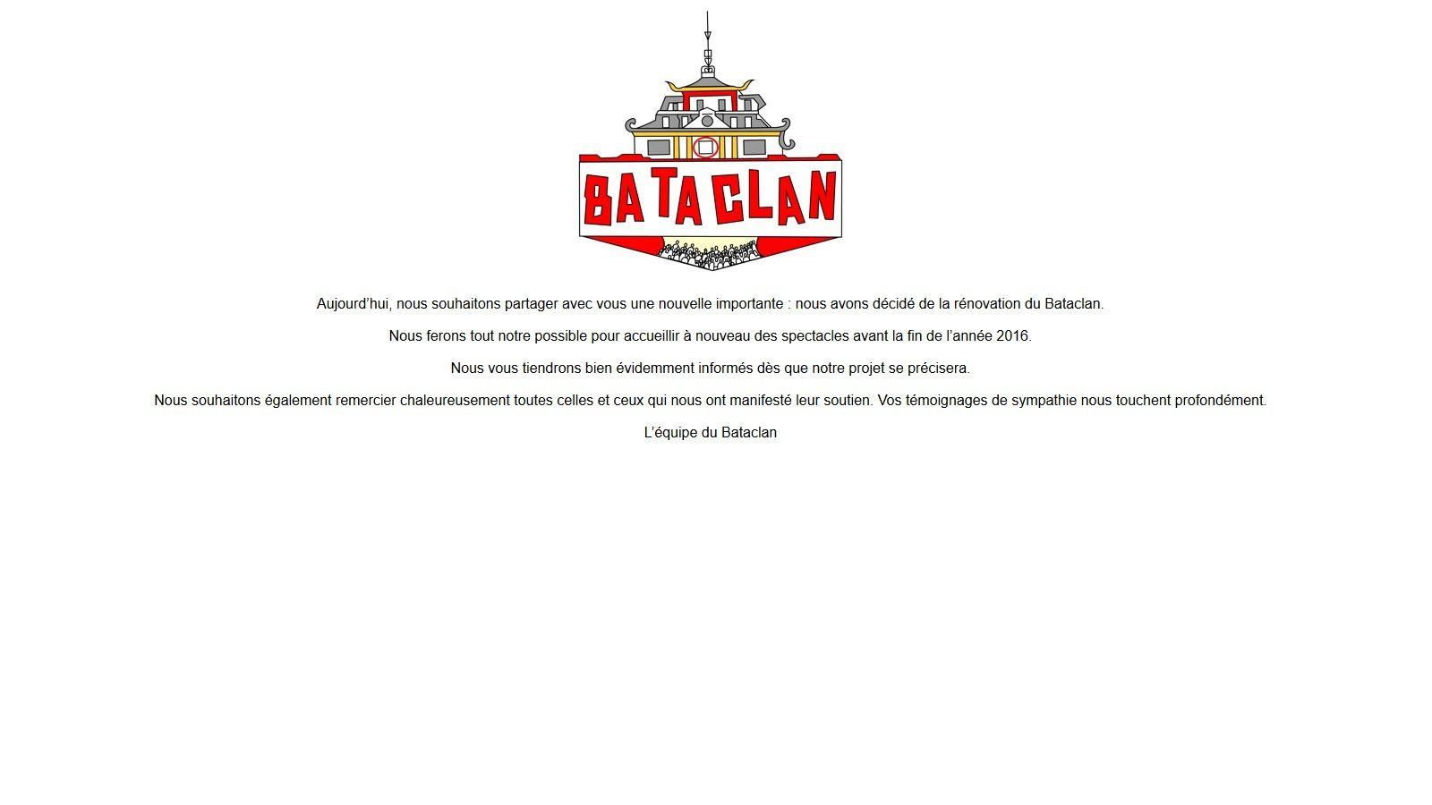 Le Bataclan va être rénové