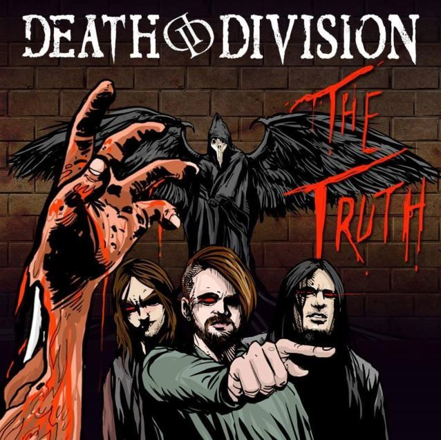 """The truth"" est tiré du 1e EP ""Angels Of The Black Dawn, Part One"" de DEATH DIVISION qui sortira le 24 Juin. Cet EP a été enregistré au EastWest Studios à Hollywood, Californie et produit par le bassiste de DEATH DIVISION - Jerry Montano (THE DEADLIGHTS, NOTHINGFACE, DANZIG, HELLYEAH). Mixé et masterisé par Gus Cryns (PANIC! AT THE DISCO, STITCHED UP HEART, ESCAPE THE FATE, FOXY SHAZAM)."