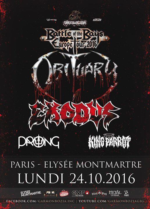 L'affiche de l'année débarque demain à PARIS à l'Elysée Montmartre !!!
