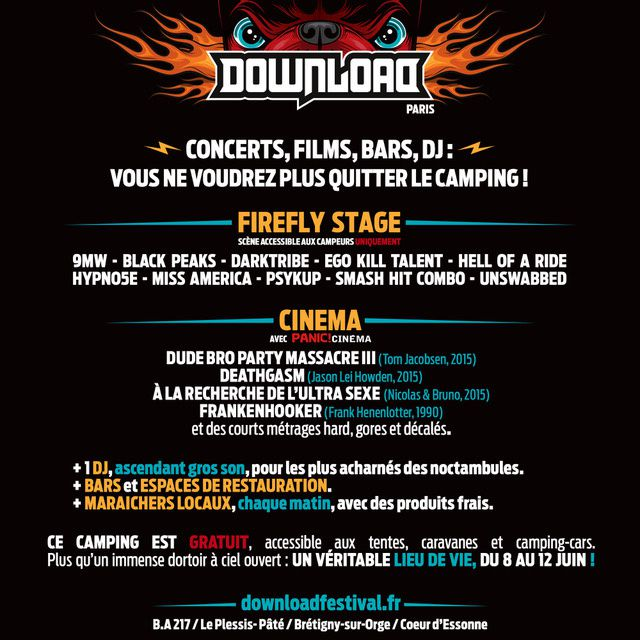 Des news du DOWNLOAD FESTIVAL 2017 FRANCE