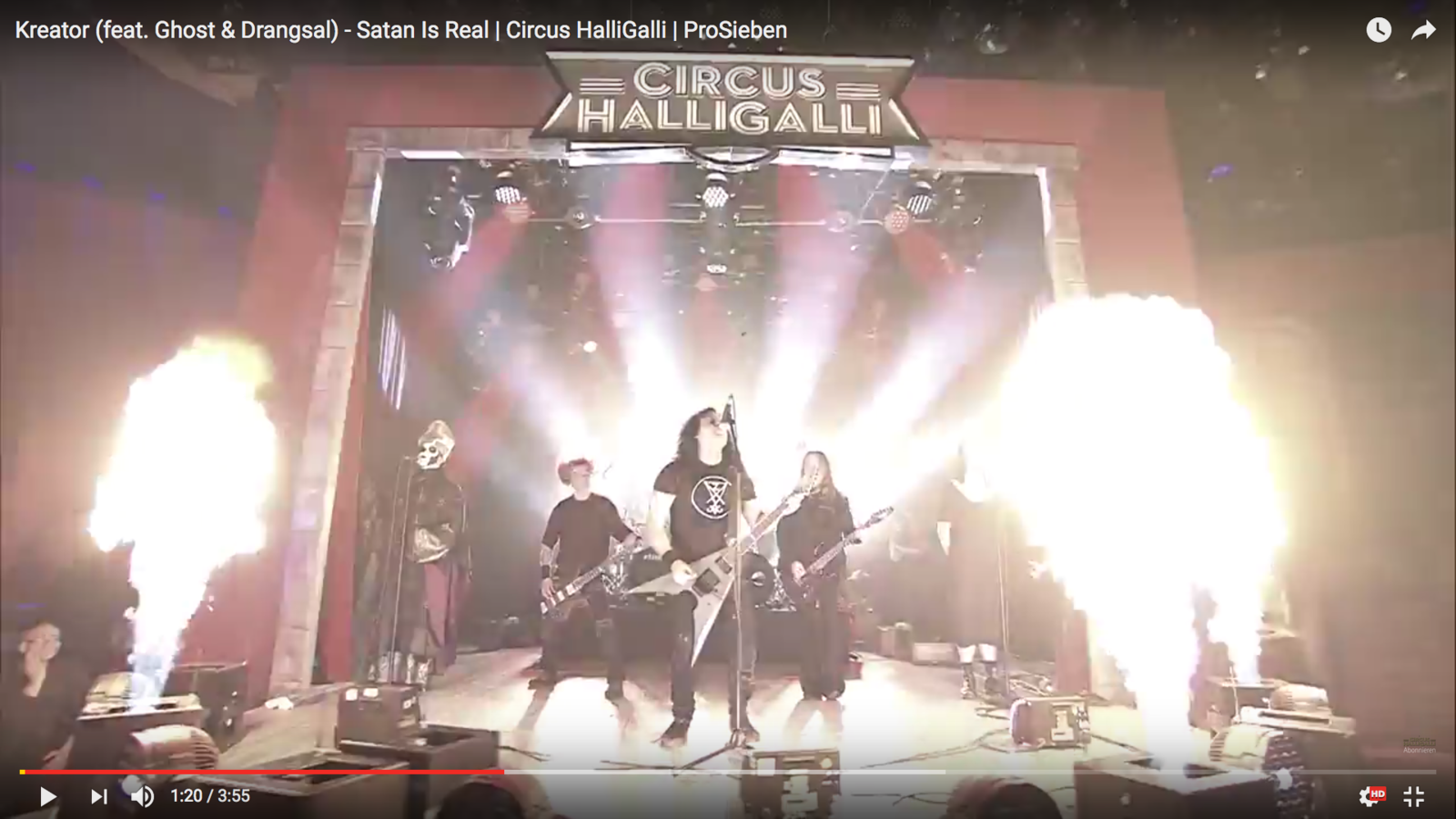 KREATOR &quot&#x3B;Satan is Real&quot&#x3B; featuring GHOST