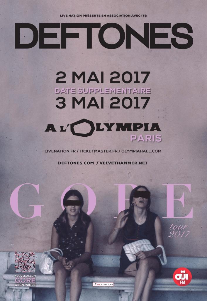 DEFTONES &quot&#x3B;My own summer&quot&#x3B; live à Paris avec Chino Moreno qui a un peu de mal sur scene avec un pied cassé