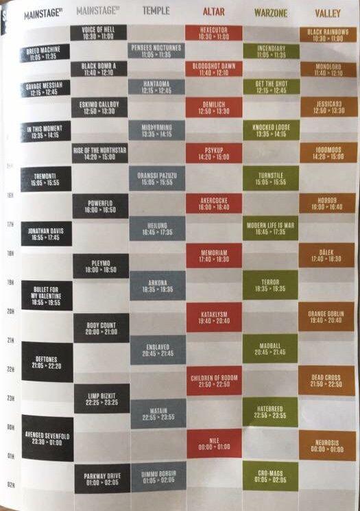 Exclu ! Le running order du Hellfest 2018