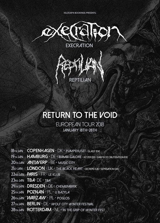 EXÉCRATION : la tournée européenne en Janvier 2018