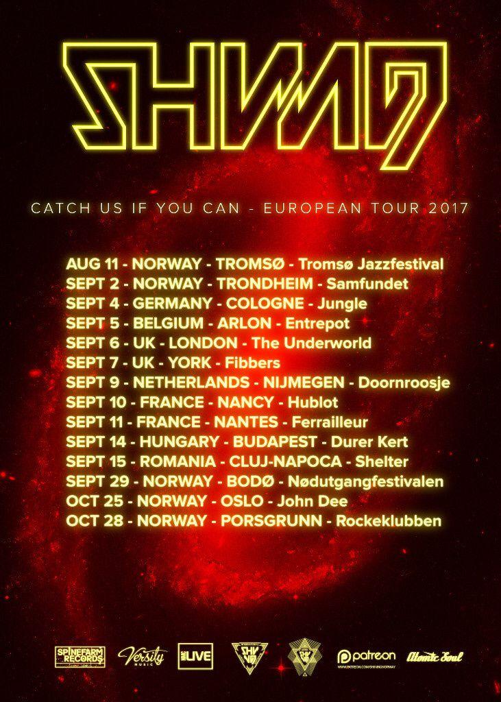 Nouvelle tournée européenne pour SHINING avec 2 dates en FRANCE