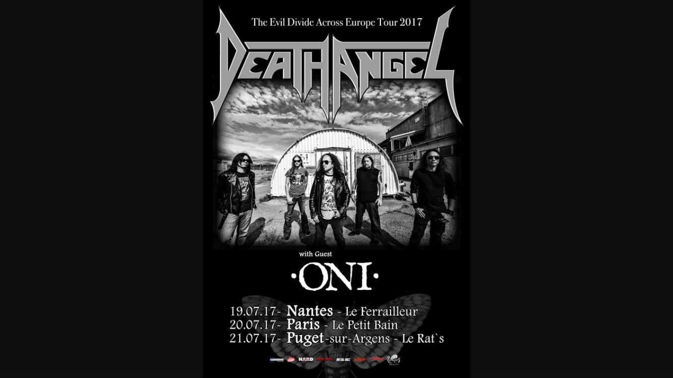 ONI ouvrira pour les 3 dates de DEATH ANGEL en France
