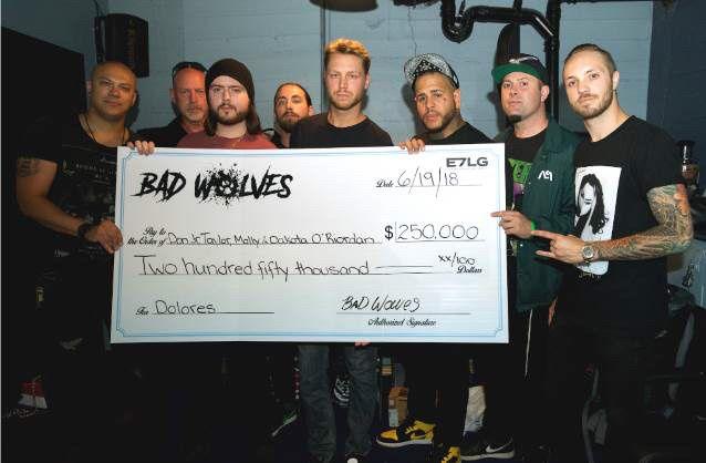 Le groupe BAD WOLVES donne 250.000 $ à la famille de Dolores O'Riordan