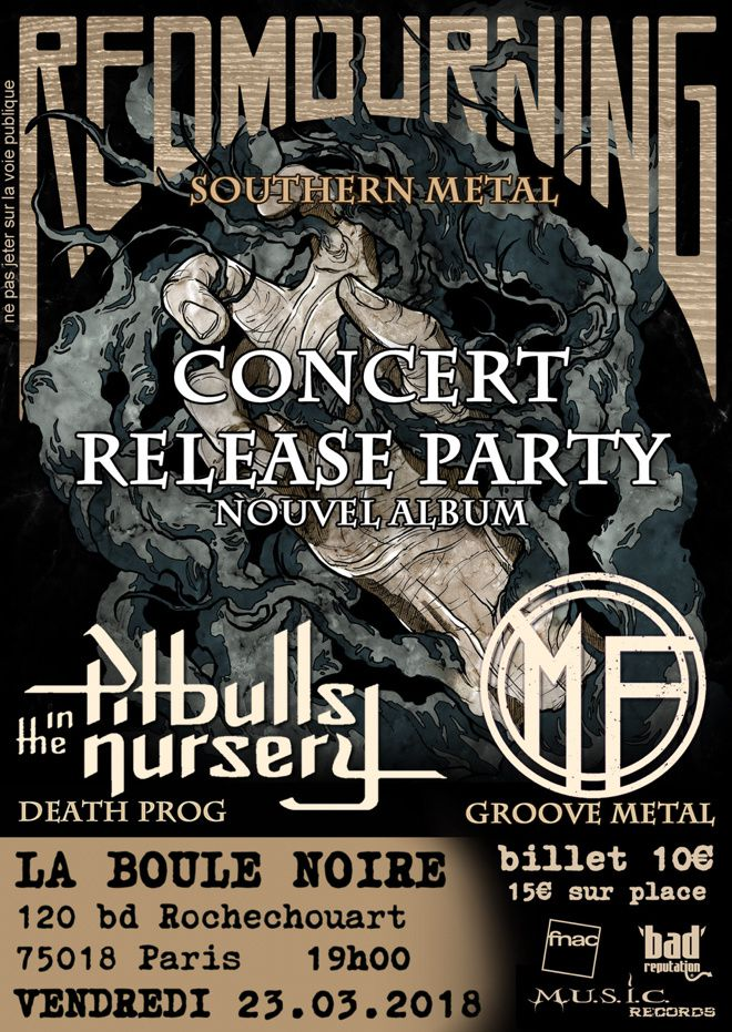 Le retour de RED MOURNING (release party sur Paris)