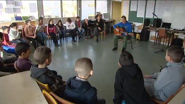 Avec les écoles : Des élèves de Crins sur France 3