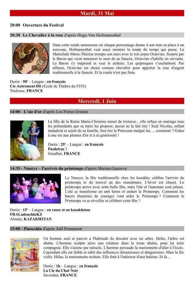 Pasdetrac ! Programme 30ème Festival International de Théâtre