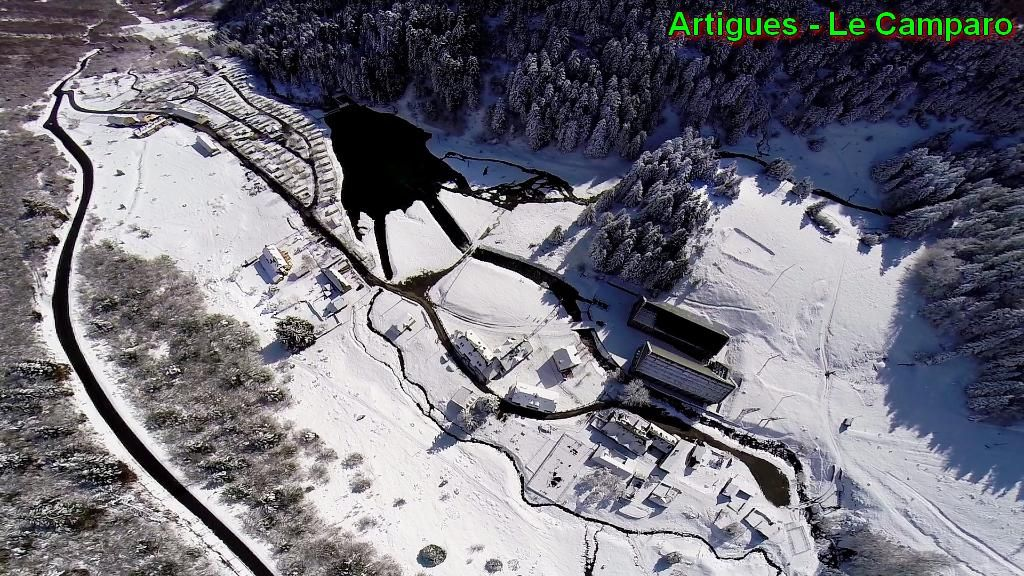 Le site du Camparo et ses alentours à Artigues (photo d'archives © Laurent Courier)