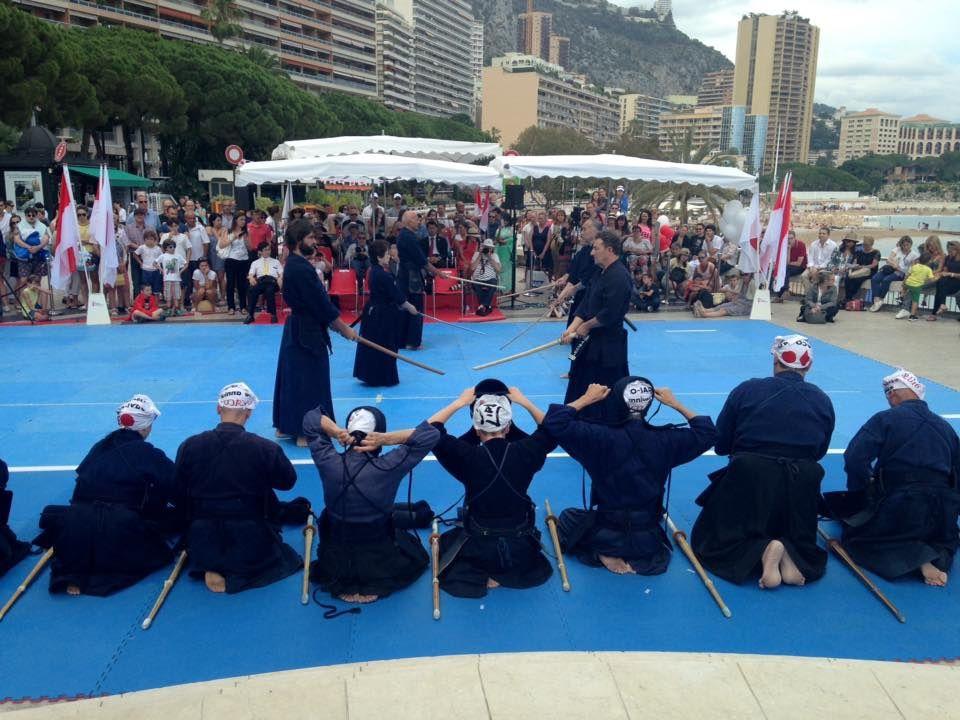 A l'occasion du 10ème anniversaire des relations entre le Japon et Monaco - Démonstration de Budo -