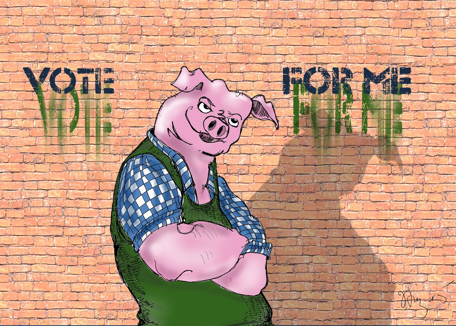 William Pig, le cochon qui avait lu Shakespeare.