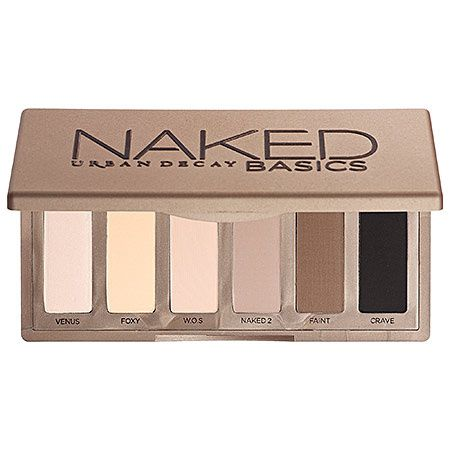 J'ai utilisé la mini palette Basics Naked d'Urban Decay, le crayon khol Queen Attitude de Bourgeois et le mascara High Impact de Clinique.  On y va :