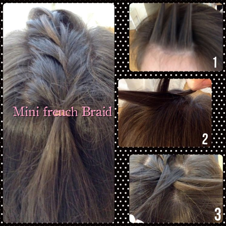 Mini French Braid