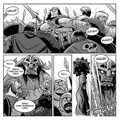 Conan sort de ce corps!  /  Barbarian Lord  Vs.  Ragnarok
