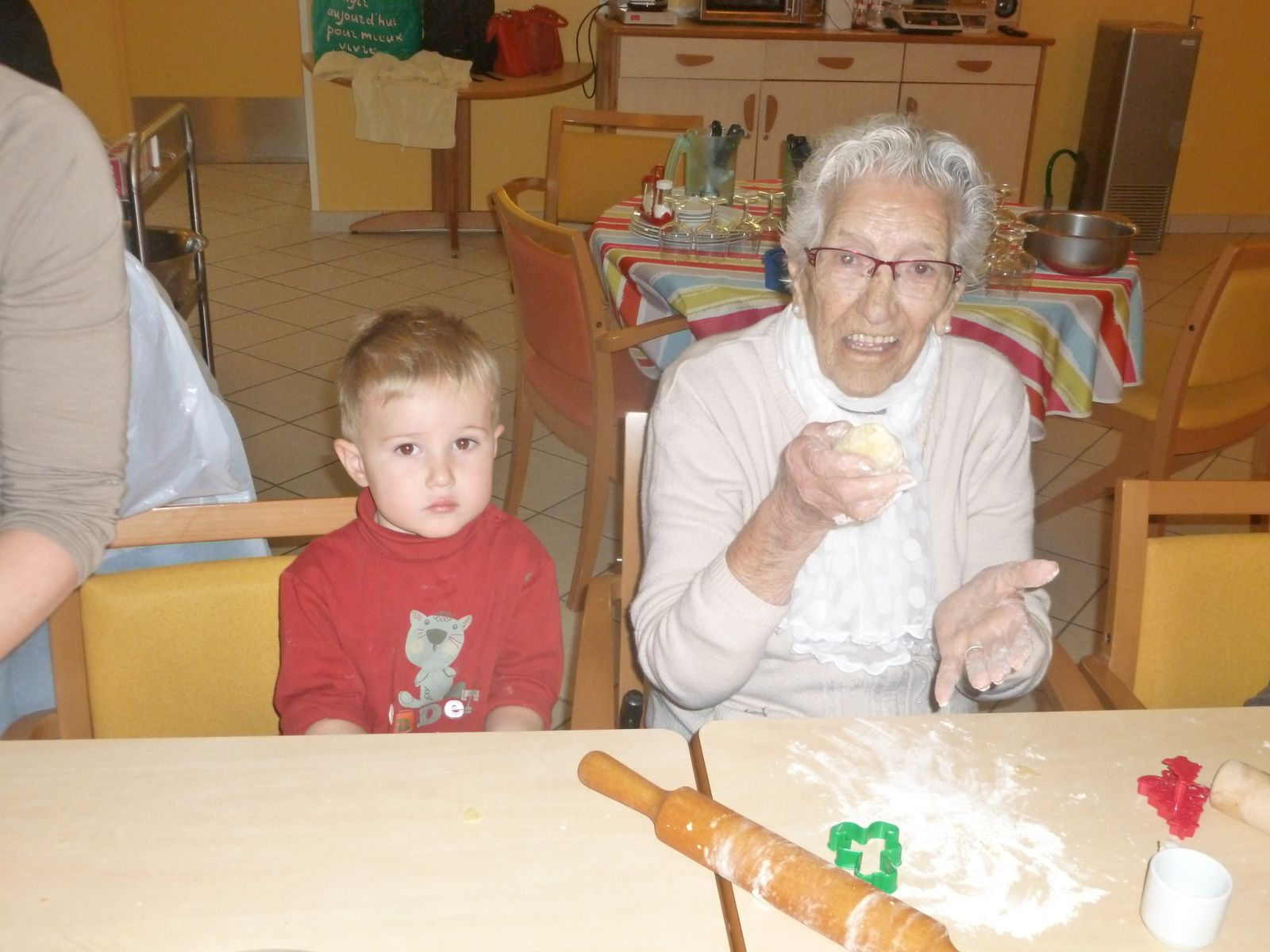 Nous fêtons Noël avec les Personnes âgées de la PUV