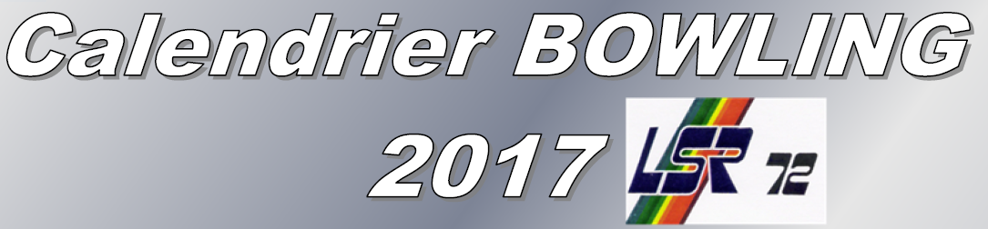 Calendrier BOWLING 2017