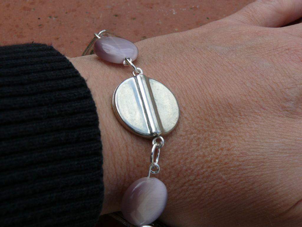 Bracelet violine et argenté
