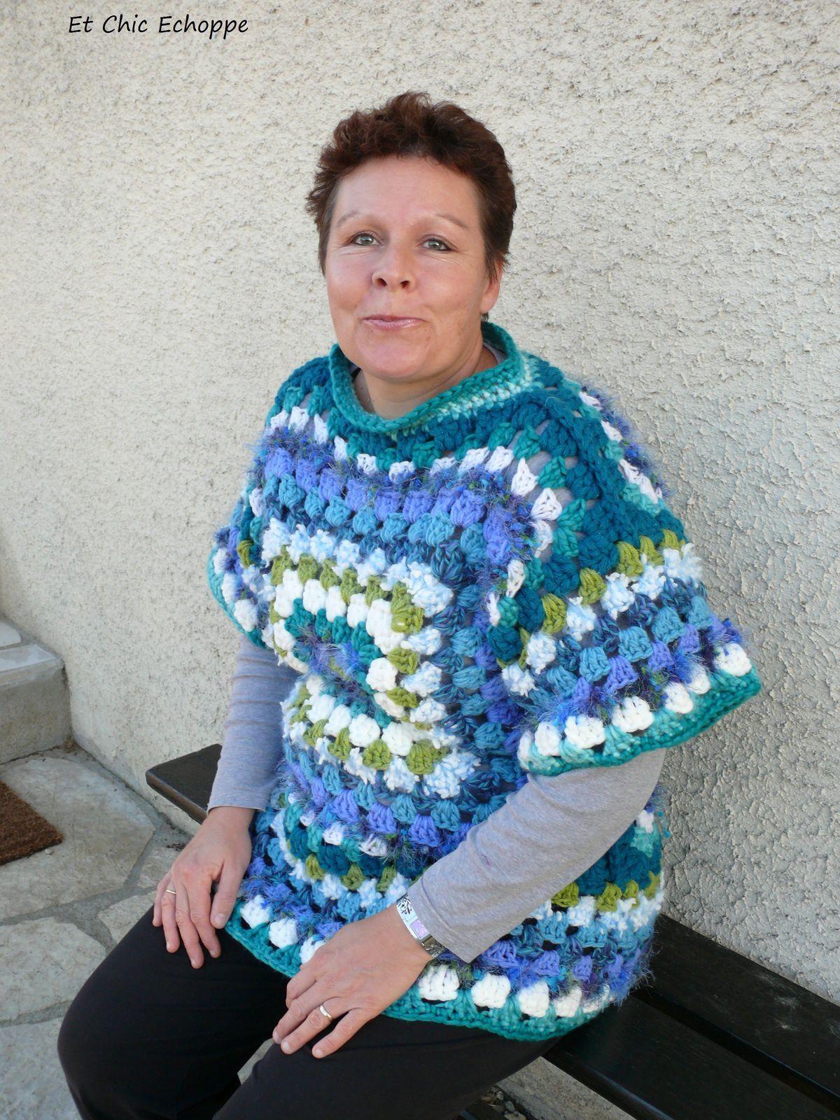Pull granny multicolores
