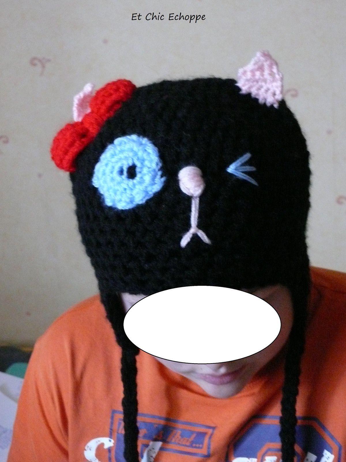 bonnet chat péruvien : commande d'une de mes clientes sur le marché