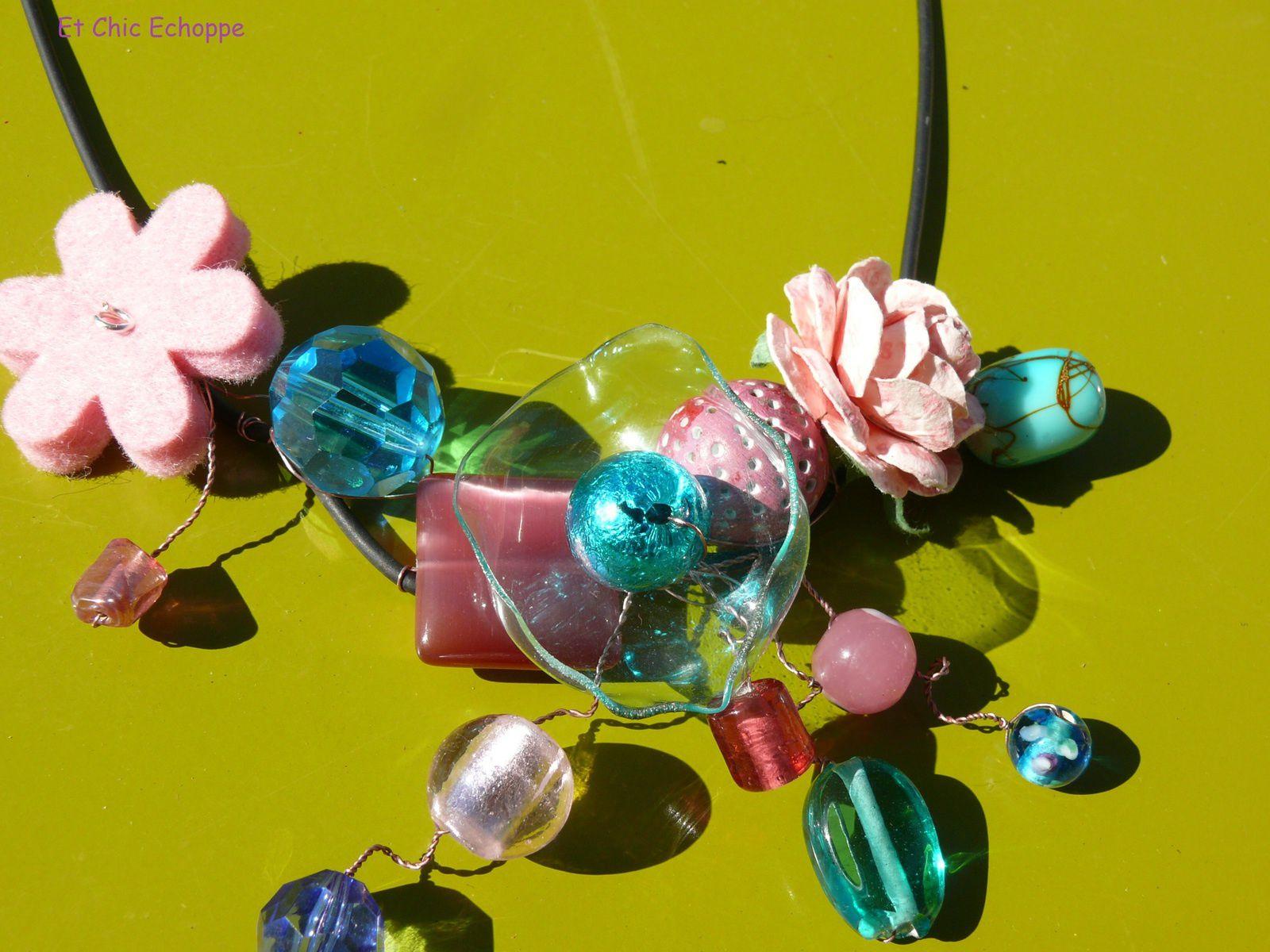 Bijoux en bouteille de plastique recyclée