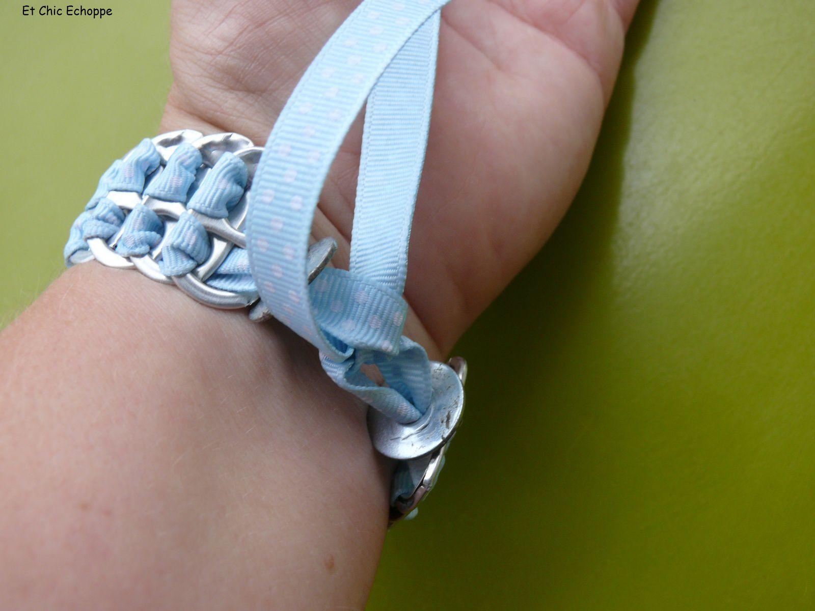 Bracelet en languette coca