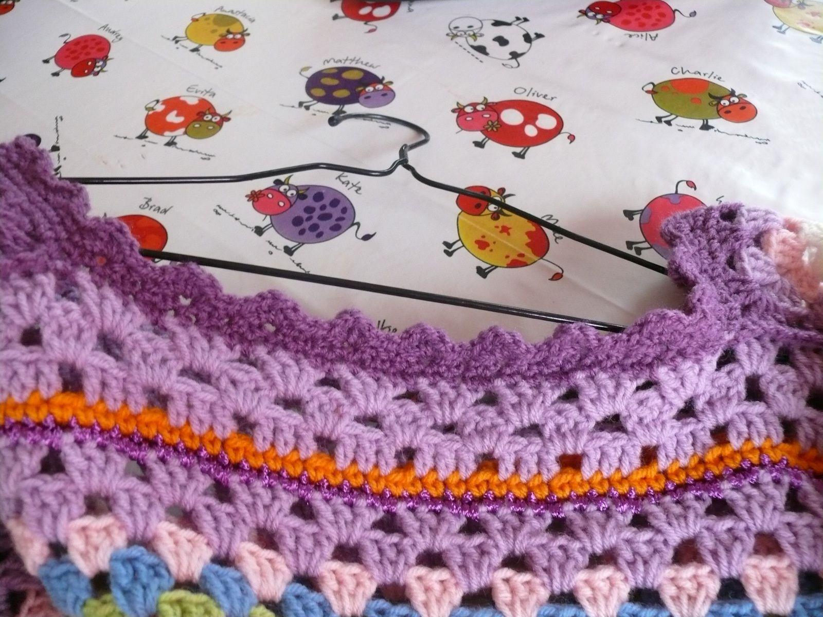 magnifique tunique colorée au crochet