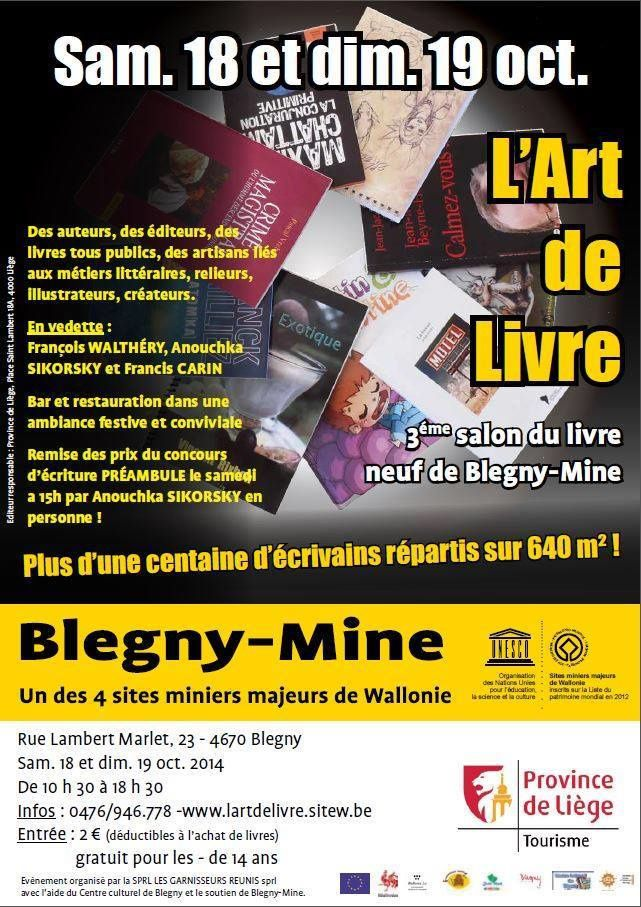 Salon du livre de Blégny-Mine.