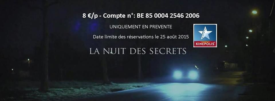 "Projection du film ""La Nuit des Secrets""."