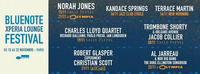 Le Blue Note Xpéria Lounge Festival vous fera vibrer du 15 au 22 novembre prochain