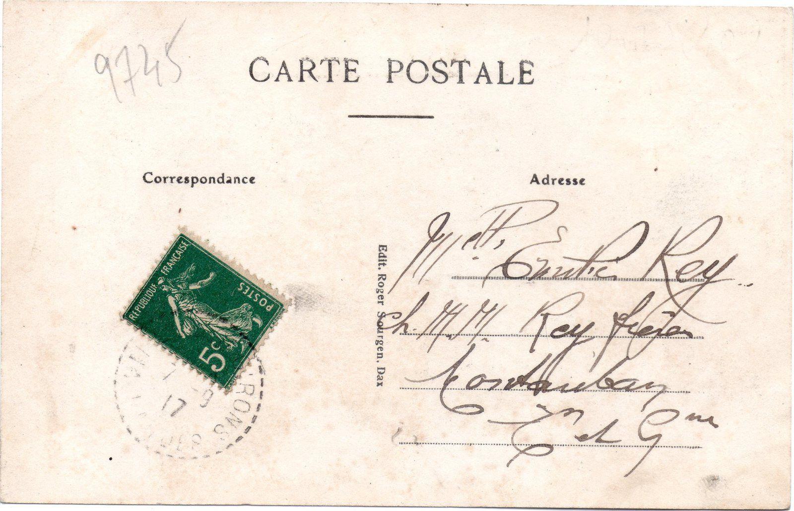 VIEUX BOUCAU Le boeuf à la Plage en 1917