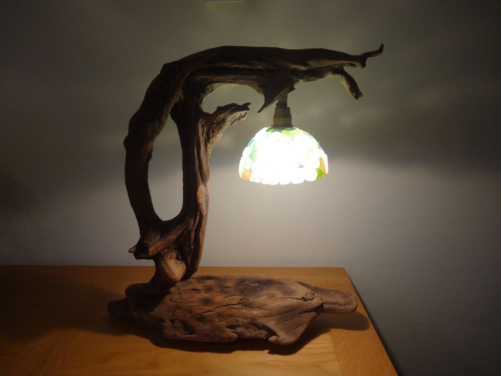 Le blog de oboisdormant bois flott cr ations en bois flott for Lampe en bois flotte creation