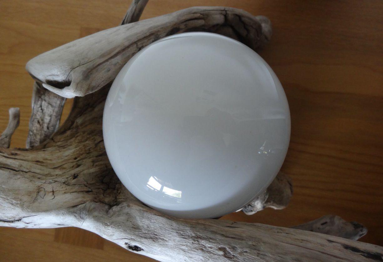 Lampe globe en bois flotté