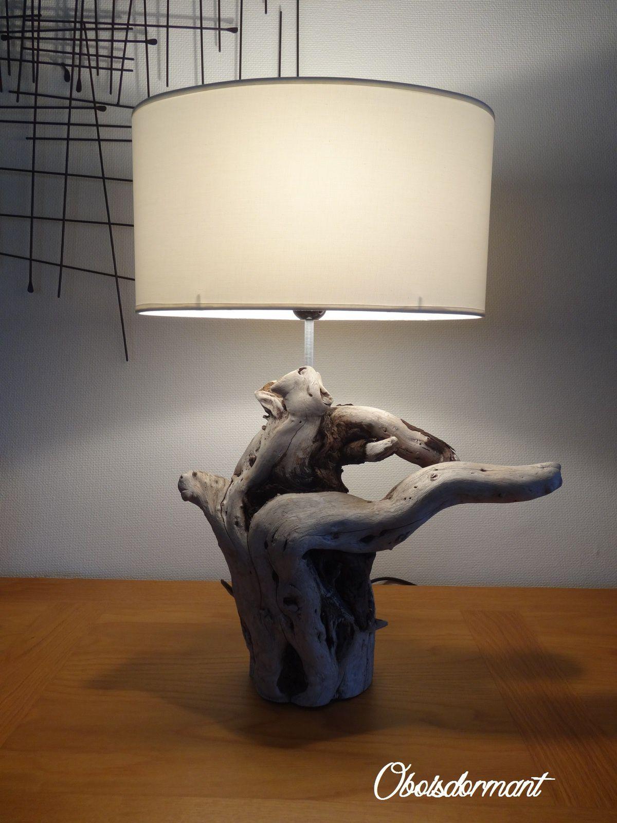 Lampe bois flotté toujours !