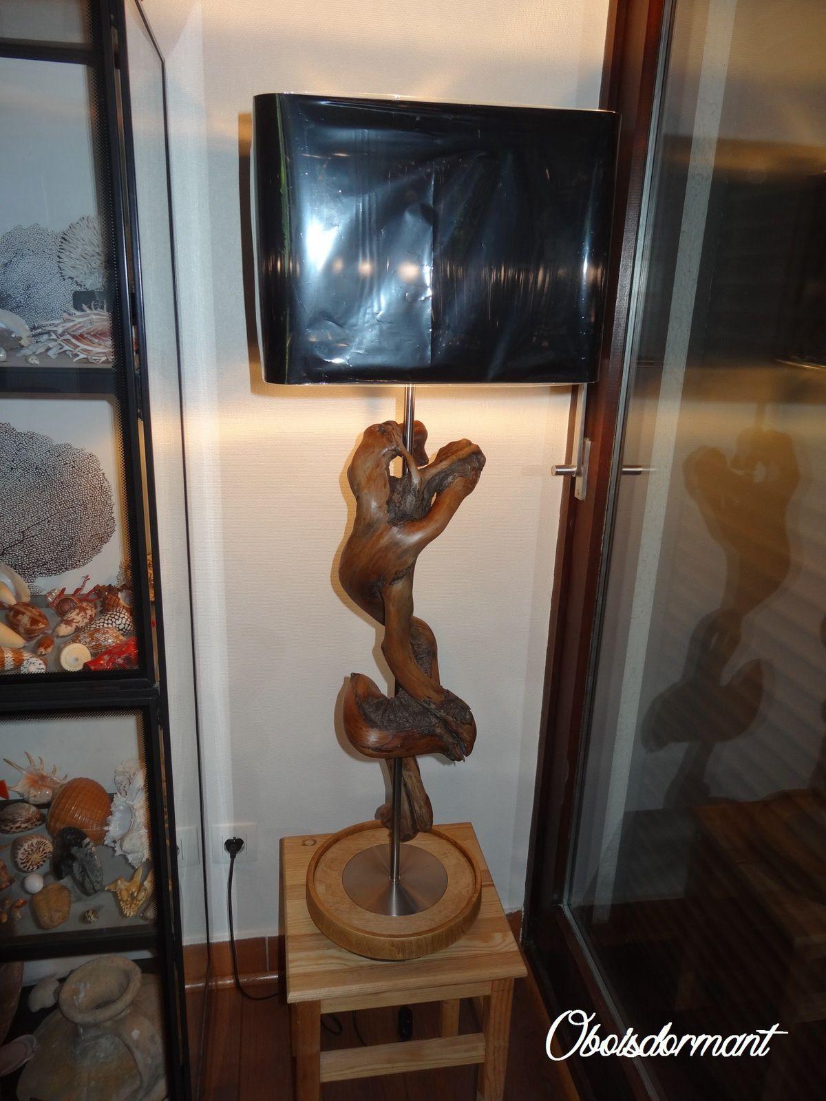 Très grande lampe en bois flotté Ôboisdormant