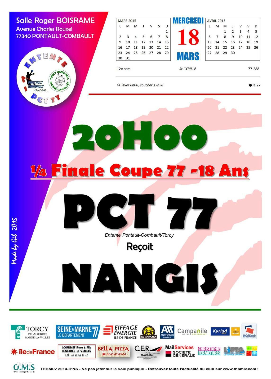 ENTENTE PCT 77 vs NANGIS (Coupe 77 -18M) 18.03.2015