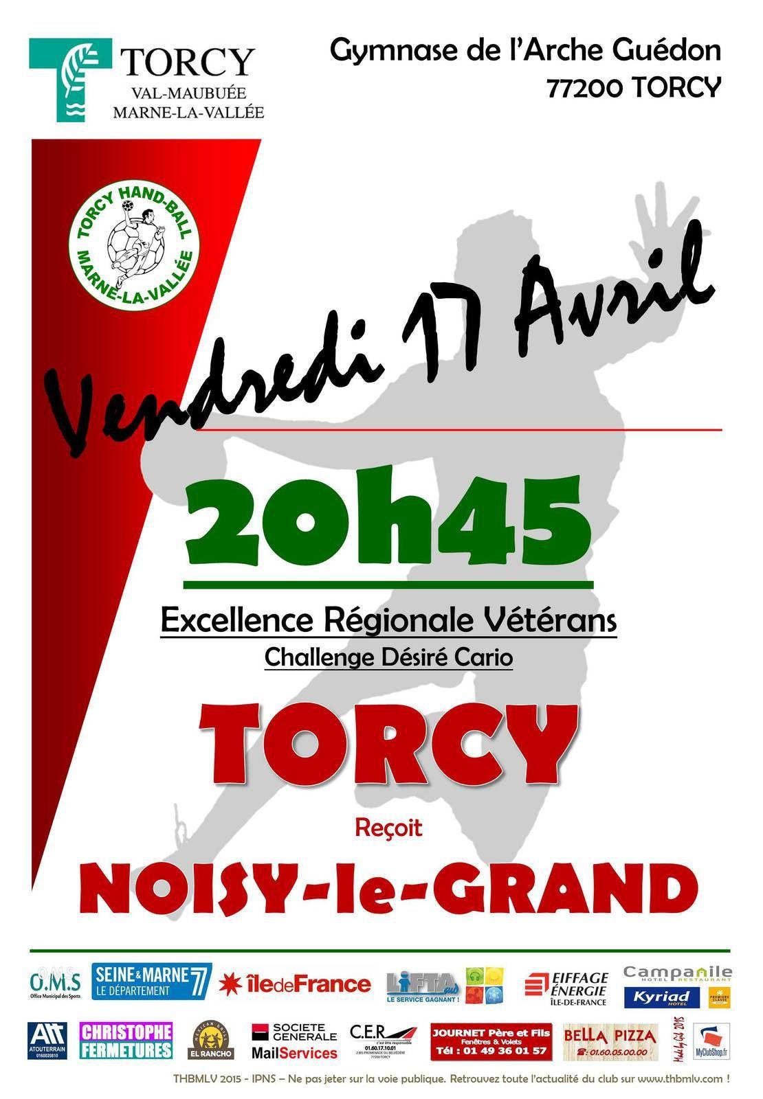 Vétérans THBMLV vs NOISY-LE-GRAND (Région - 17.04.2015)
