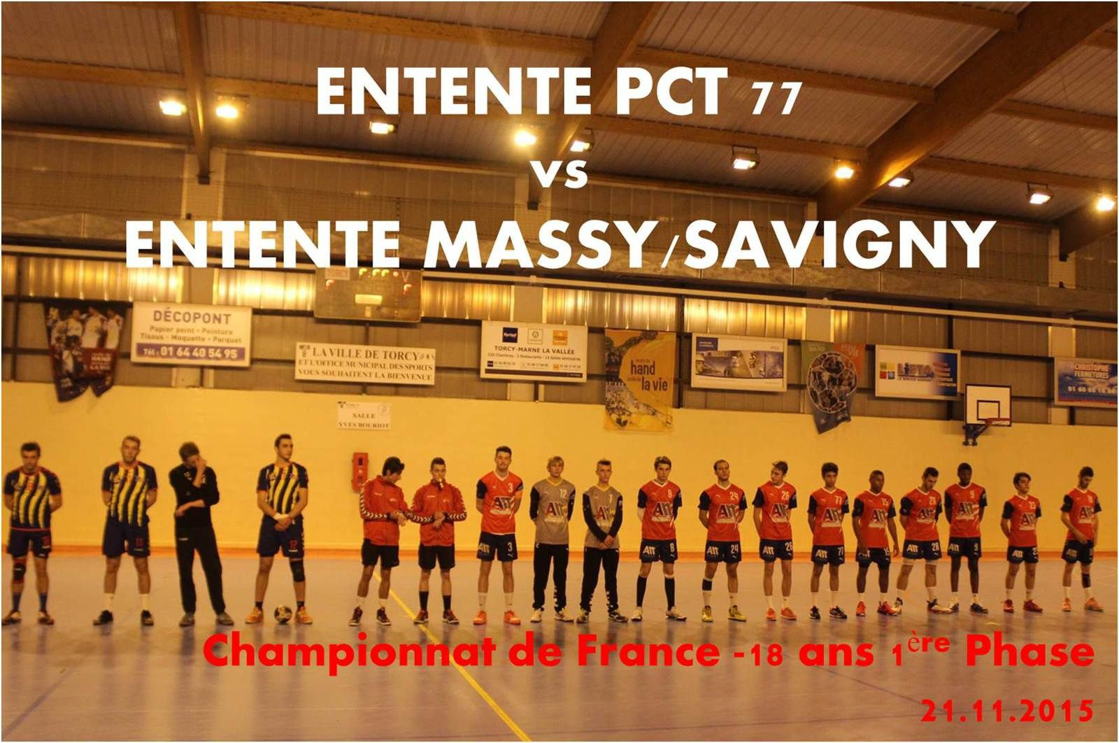 ENTENTE PCT 77 vs MASSY/SAVIGNY (CdF -18M) 21.11.2015