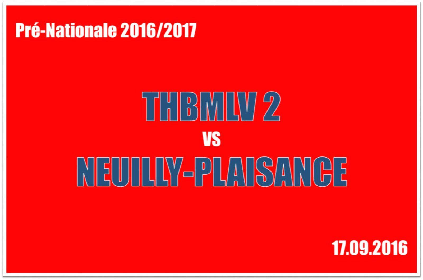 THBMLV 2 vs NEUILLY-PLAISANCE (Pré-Nationale) 17.09.2016