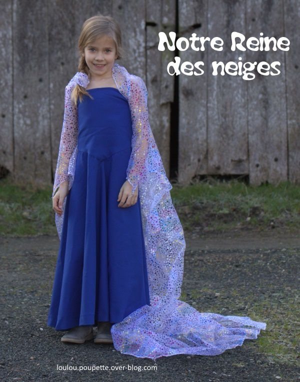 Costume de la Reine des neiges...