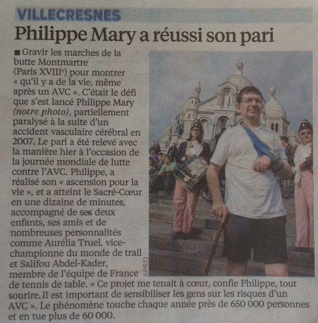 Article du Parisien ce matin