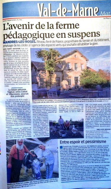 L'avenir de la ferme agricole de Mandres les Roses en négociation !!!